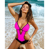 One Piece Deep V Backless Monokini