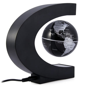 C shape magnetic levitation floating globe world map with led lights c shape magnetic levitation floating globe world map with led lights for desk decoration gumiabroncs Choice Image