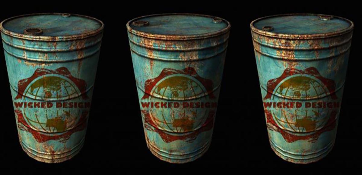 wicked design oil recycled oil barrels
