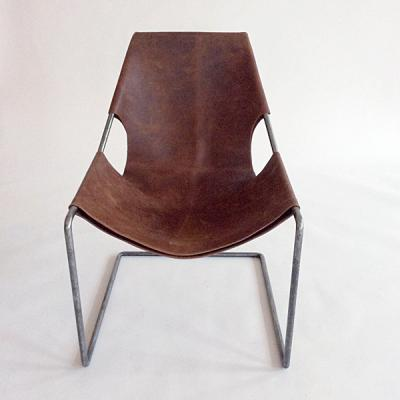 Nora Leather Armchair Brown