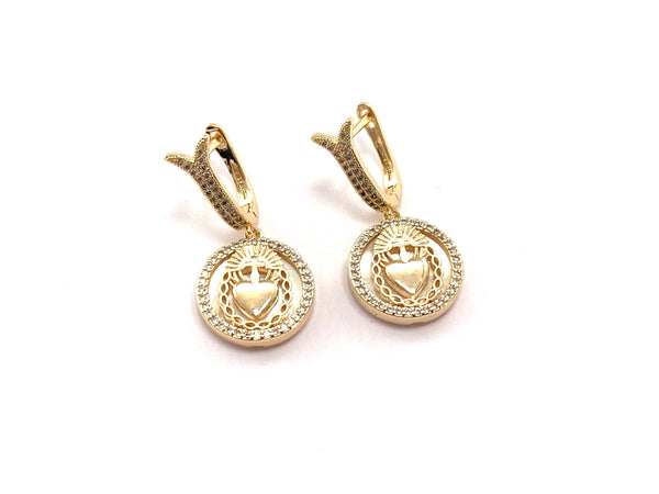 Sacred Medallion Earrings - GOLD COLLECTION