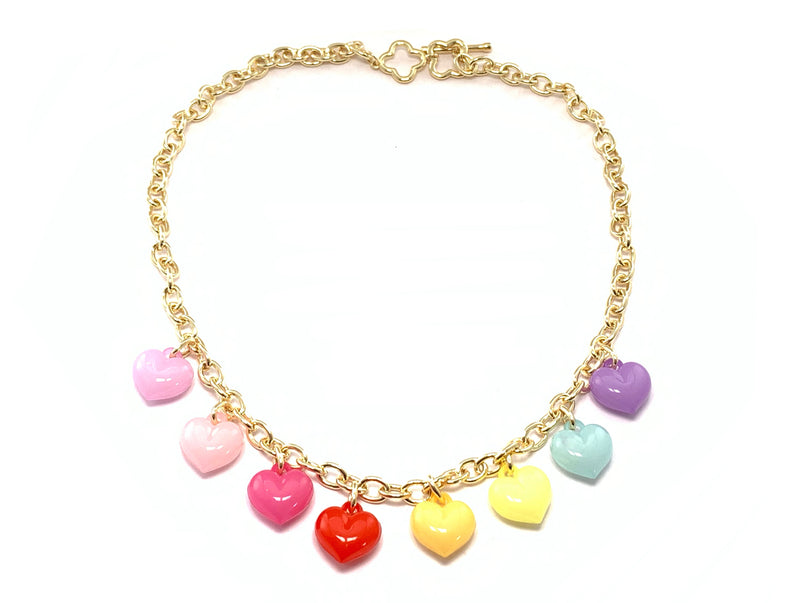 Heart Charm Necklace- GOLD COLLECTION