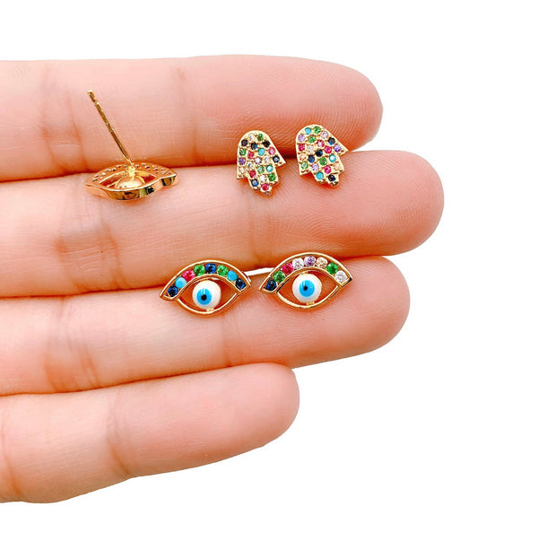 Protected Rainbow Earrings Set - GOLD COLLECTION