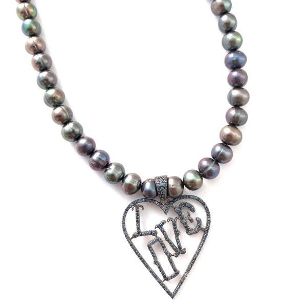 LOVE Peacock Pearl Necklace
