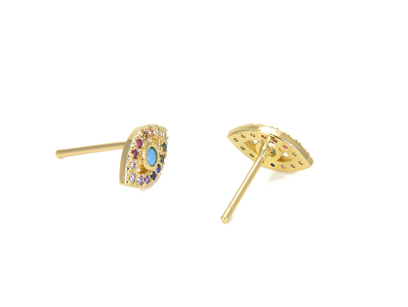 Turquoise Evil Eye Earrings - GOLD COLLECTION