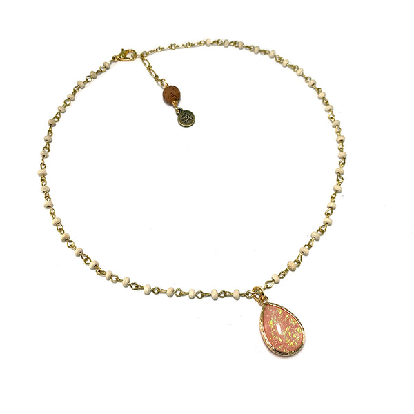 Hopal Teardrop Necklace-     ELEMENTS COLLECTION - HotRocksJewels
