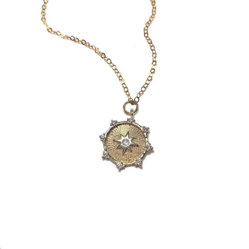 Compass Necklace-    GOLD COLLECTION - HotRocksJewels