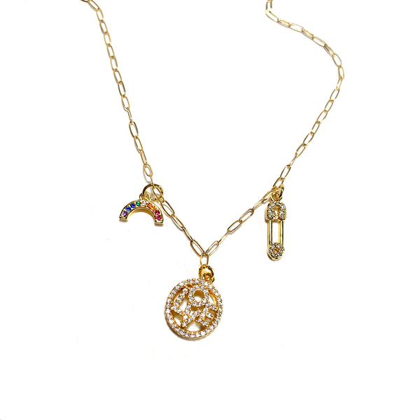 Love Charm Necklace-      GOLD COLLECTION - HotRocksJewels