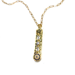 Mezuzah Necklace-         GOLD COLLECTION - HotRocksJewels