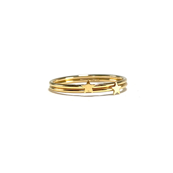 Gold Star Ring-     GOLD COLLECTION - HotRocksJewels