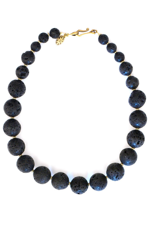 Major Minor Necklace - Graduated Lava Spheres - Simply Lava Collection