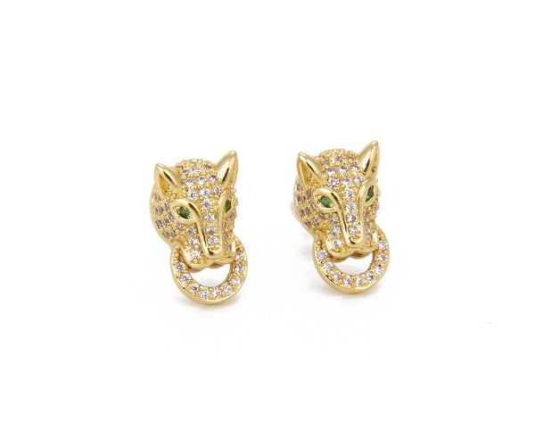 Panther Gold Earrings