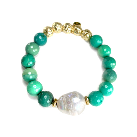 Lila Luxe Bracelet - The Mermaid Collection - Green - Chalcedony