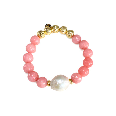 Lila Luxe Bracelet - The Mermaid Collection - Pink - Cherry Quartz