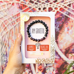 """I AM GRATEFUL"" Bracelet- MANTRA COLLECTION - HotRocksJewels"