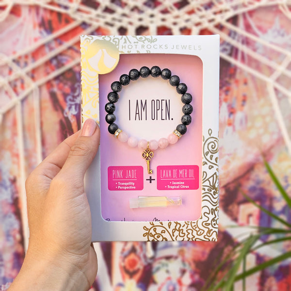 """I AM OPEN"" Bracelet- MANTRA COLLECTION - HotRocksJewels"