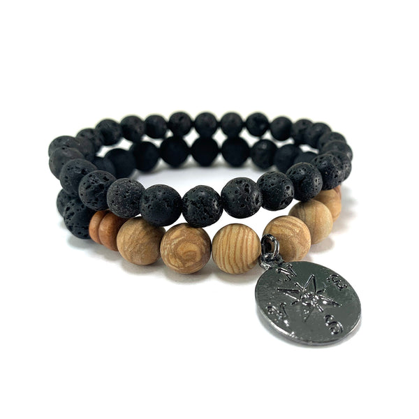 Men's Compass Bracelet Stack-     ALL STYLES - HotRocksJewels