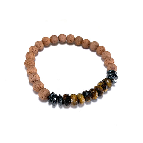 Men's Cornerstone Bracelet-     TIGER EYE - HotRocksJewels
