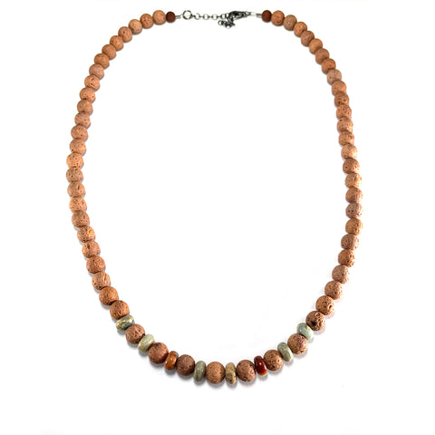 Men's Cornerstone Necklace-     SEDIMENT JASPER - HotRocksJewels