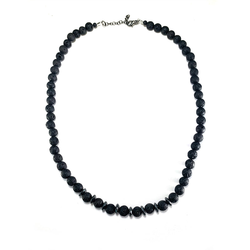 Men's Cornerstone Necklace-     HEMATITE - HotRocksJewels
