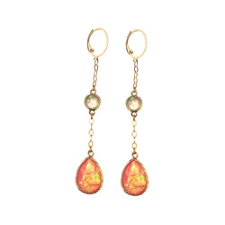 Long Hopal Earrings-    MUSE COLLECTION - HotRocksJewels