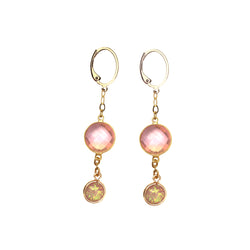 Pink Chalcedony Hopal Earrings-      MUSE COLLECTION - HotRocksJewels