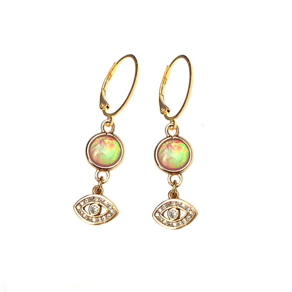 Evil Eye Hopal Earring-     MUSE COLLECTION - HotRocksJewels