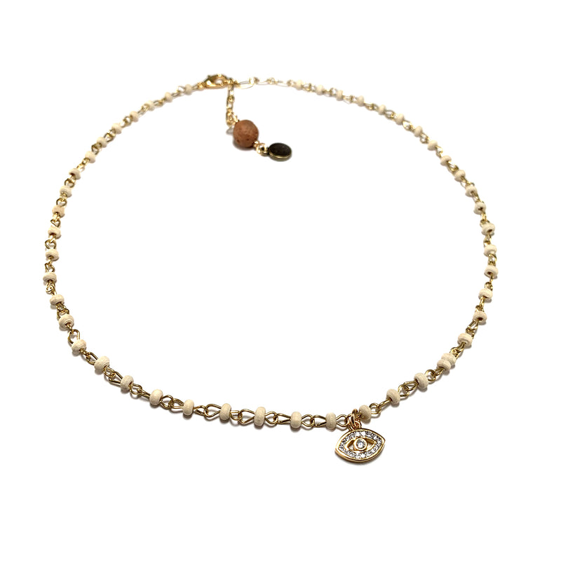 Evil Eye Charm Necklace-     MUSE COLLECTION - HotRocksJewels