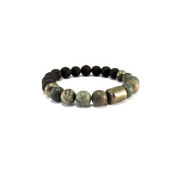 Men's Pathfinder Bracelet- RAINFOREST JASPER - HotRocksJewels