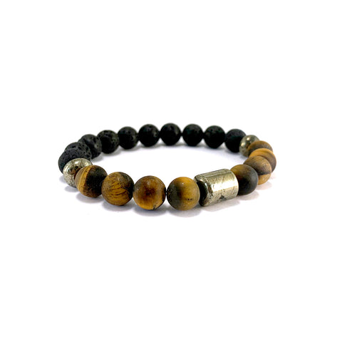 Men's Pathfinder Bracelet- TIGER EYE - HotRocksJewels