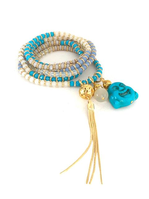 Luxe Crystal Buddha Wrap - PLAYA COLLECTION - HotRocksJewels