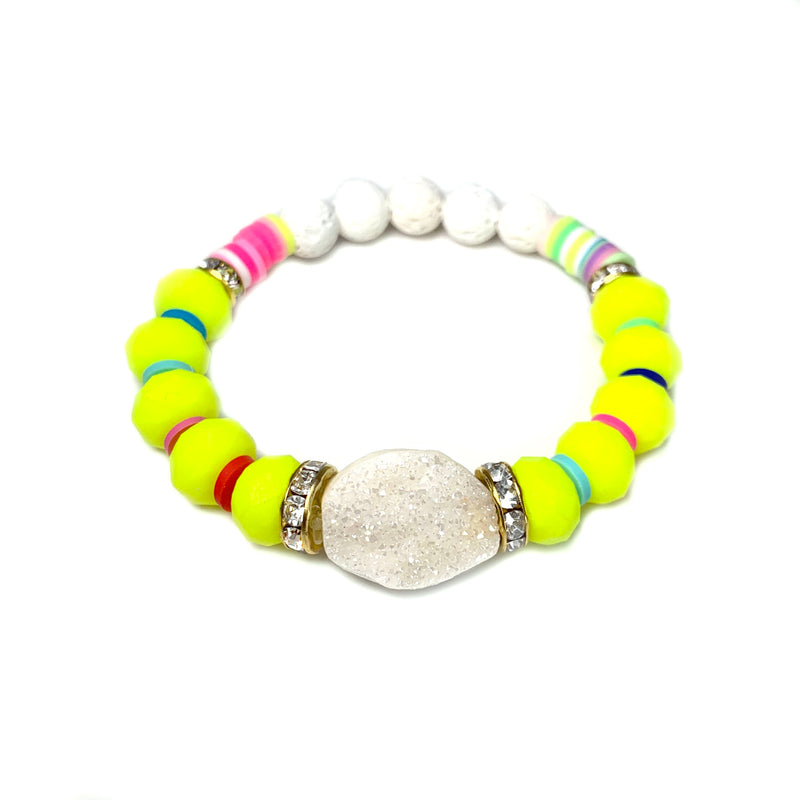 Sula Druzy Neon Bracelet-    VIVA COLLECTION - HotRocksJewels