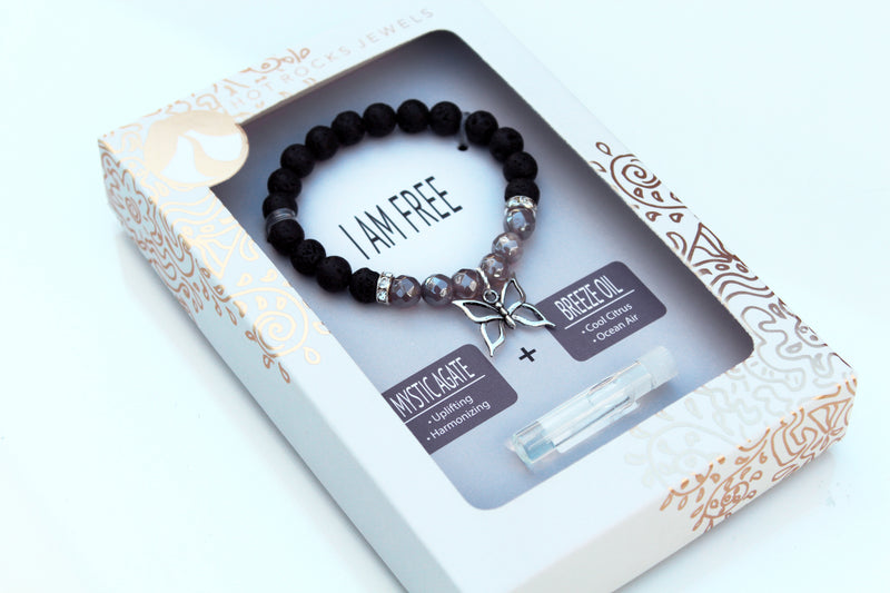 """I AM FREE"" Bracelet - MANTRA COLLECTION - HotRocksJewels"