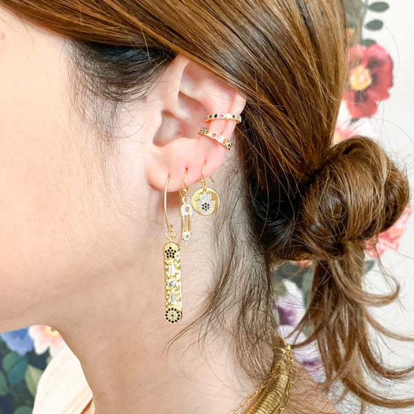 Hamsa Earrings-      GOLD COLLECTION - HotRocksJewels