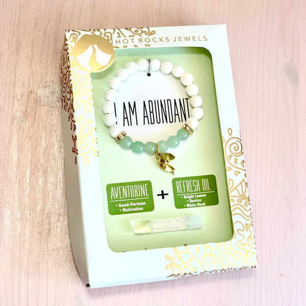 """I AM ABUNDANT"" Bracelet - MANTRA COLLECTION - HotRocksJewels"
