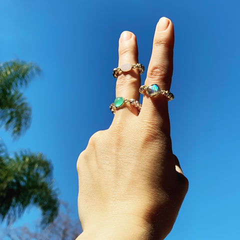 Luxe Lava rings are gorgeous on their own or stacked together - HOT ROCKS JEWELS