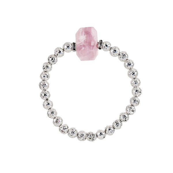 Kunzite Bracelet - LUXE LAVA COLLECTION - HotRocksJewels