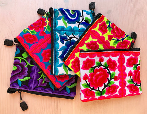 Pretty flower pouches for all of your little essentials! Hot Rocks Jewels Accessories