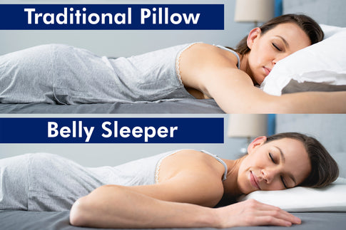 [New] The Belly Sleeper Pillow - Cool Gel