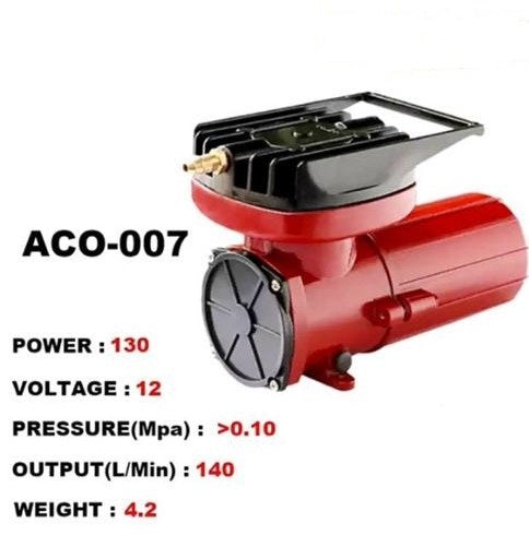 Blue Diamond ACO-007 DC 12V Constant Electromagnetic Air Compressor for Hydroponics Pond Aquarium Air Oxygen Pump - Wastewater Pro