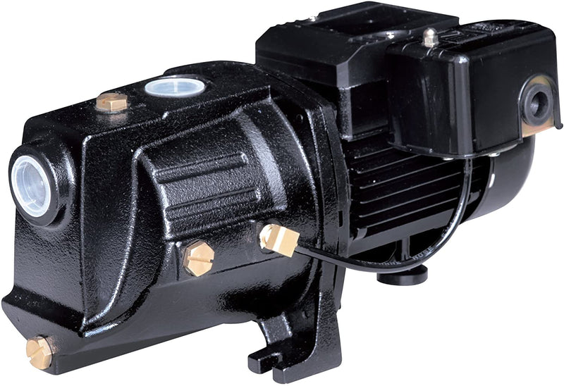Acquaer SJC075 3/4 HP Dual-Voltage Cast Iron Shallow Well Jet Pump, Black - Wastewater Pro