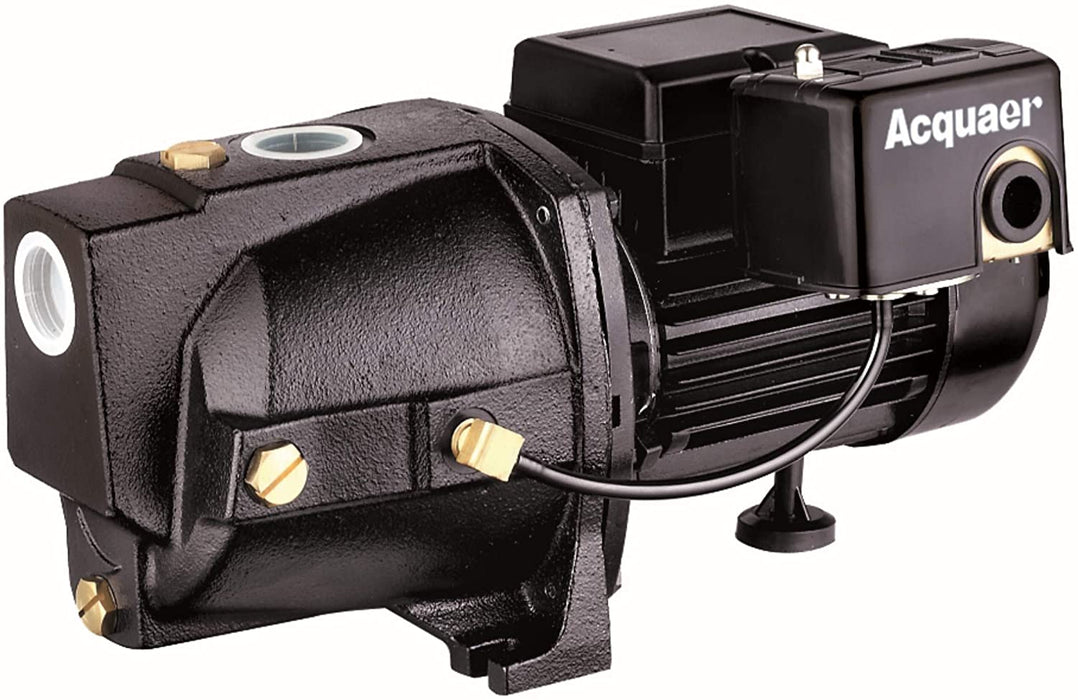 Acquaer SJC100-1 1 HP Cast Iron Shallow Well Jet Pump for Wells up to 25 ft. - Wastewater Pro