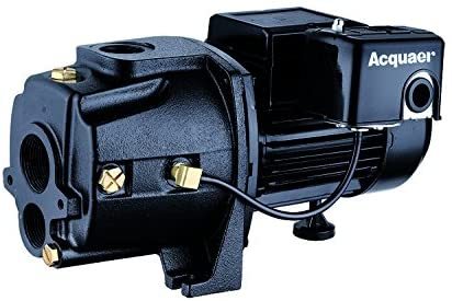 Acquaer 1 HP Dual-Voltage Durable Cast iron Convertible Deep WellJet Pump With Injector kit - Wastewater Pro