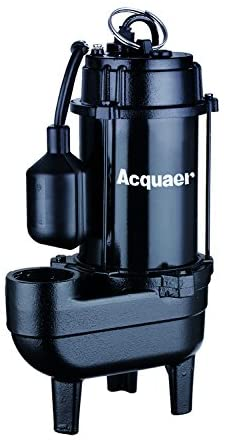 Acquaer 1/2 HP Durable Cast iron Sewage Pump with 10ft. power cord+Piggy back switch - Wastewater Pro