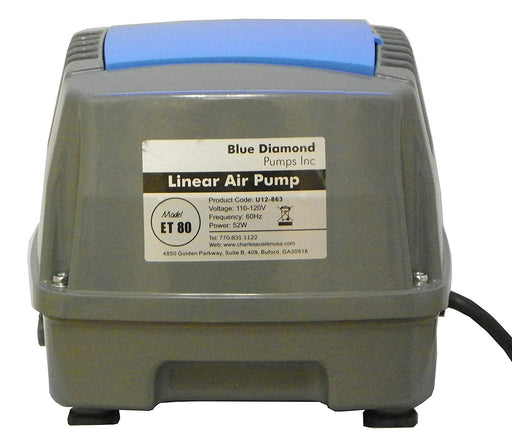 Blue Diamond ET80 - $184.95 - Septic or Pond Linear Diaphragm Air Pump - Wastewater Pro