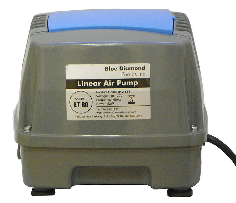 Blue Diamond ET80 Septic or Pond Linear Diaphragm Air Pump - Wastewater Pro