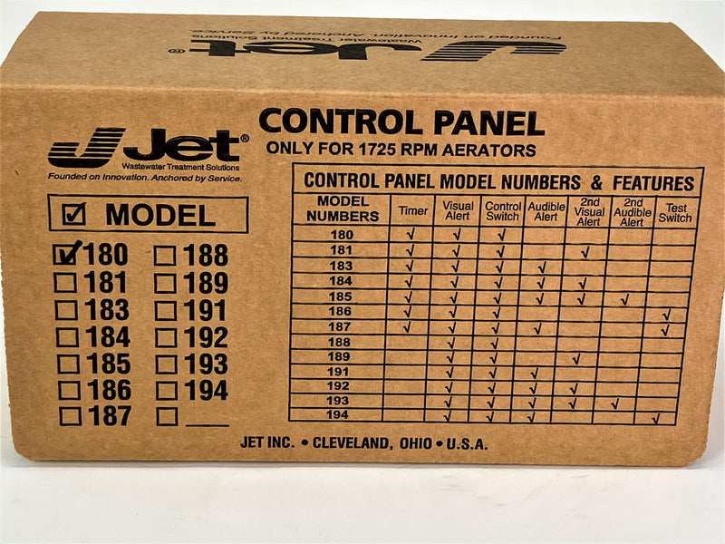 Jet 180 Control Panel for Jet Aeration Septic System - SepticTank.com