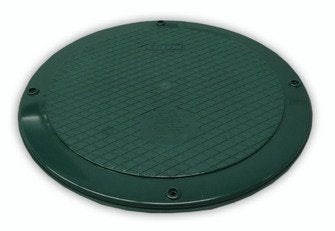 "Polylok 3004-C 12"" Flat Septic Cover for use with Corrugated or Ribbed Pipe - Wastewater Pro"