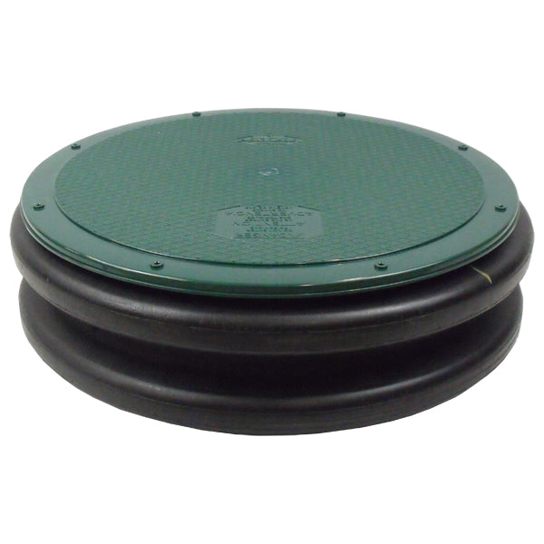"Polylok 3008-West 24"" Flat Septic Cover for Polylok Risers and Corrugated Pipe - Wastewater Pro"