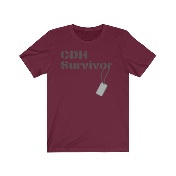 """CDH Survivor"" Unisex Jersey Short Sleeve Tee (UK Printing)"